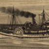 Drawing of steam paddle boat