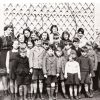 Alderney evacuees with their Headmaster, Mr Godfray, Cheshire,1940