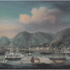 Victoria Harbour with Hong Kong Island in the background, c.1862. Unknown artist.  维多利亚港,背景为香港岛,约为1862年。艺术家不详。