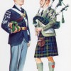 Picture postcard depicting two Boys' Brigade band members. Date unknown. Image reproduced with kind permission of David Kemp.