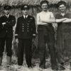 Naval staff at the farm on Tipnor (Courtesy of Brain Witt, Curator of the HMS Excellent collection)