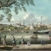 View of the waterfront at Canton with the paddle steamer 'Spark'. Copyright Hong Kong Maritime Museum. https://artsandculture.google.com/exhibit/canton-trade/BAKChKKXSKUpJg