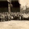 Channel Island evacuees outside St Mary's Church after one of their wartime services